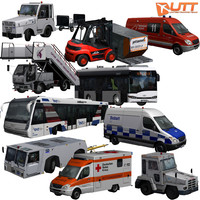 3d model airport car pack 1