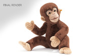toy monkey fur 3d max