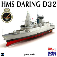 HMS Daring D32 Type 45 Destroyer