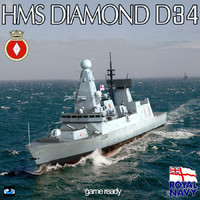 3d hms type 45 destroyer