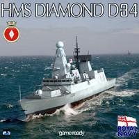 3d hms type 45 destroyer
