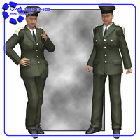 military dress uniform v4 3d model