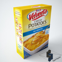 3d velveeta cheesy potatoes au model