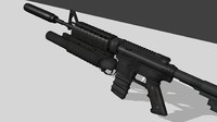 m4a1 assault rifle 3d 3ds