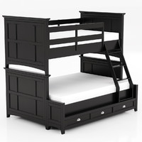 Magnussen Home Bennett Black Bunk Bed