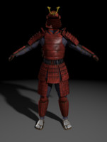 samurai armor 3d 3ds