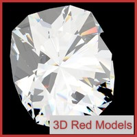 3d diamond cushion cut