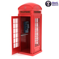3ds max phone booth