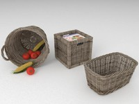 3ds max wicker basket