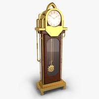 3d model floor clock