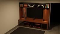 3d home bookshelf