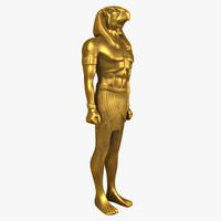 horus god statue 3d model
