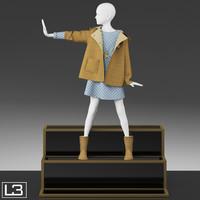 3d kid mannequin