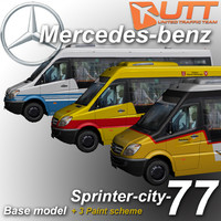mercedes-benz sprinter city 77 3d 3ds