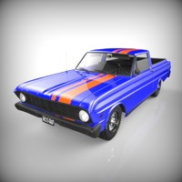 ranchero coupe pickup 3d model