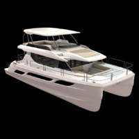 catamaran boat 3d fbx