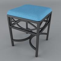 3d model seat cloth