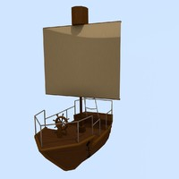 3d model sailing ship rpg