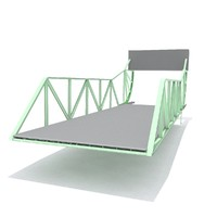 swingbridge train 3d max