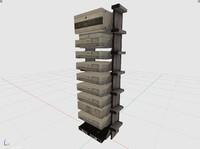 server rack 3d 3ds