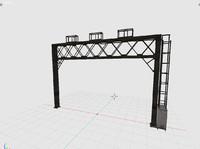 3d railway arch model