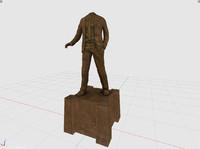 3ds statue head