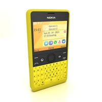 3d nokia asha 210 yellow