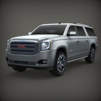 3d model gmc yukon 2015
