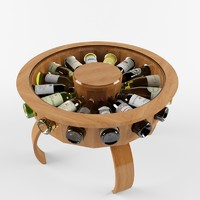 3d model wine table don vino