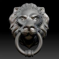 Lion Head Door Knocker Zbrush
