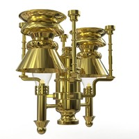 3d kerosene ceiling lamp railroad