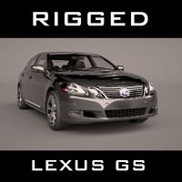 3d model of lexus gs