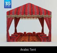 arabian tent arabic 3d model