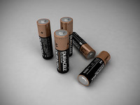 duracell aa battery obj