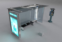 nyc bus shelter obj