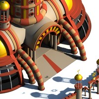 surreal castle c4d free