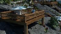 coast beach 3d model