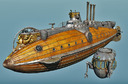 fictional submarine 3D models