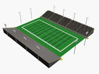 small football stadium 3d obj