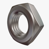 hex nut 3d obj