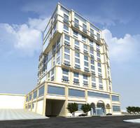 hotel building landscape max