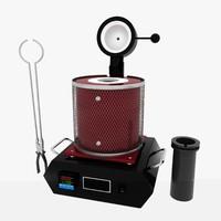 3d model portable metal melting furnace
