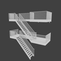3d exterior stair model