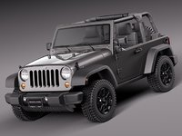 3ds max 2013 2014 jeep wrangler