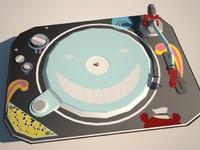 dj turntable 3d model
