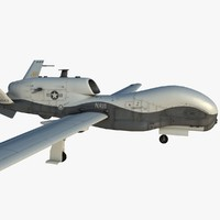 uav rq-4b global hawk 3d max