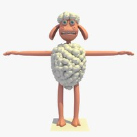 cartoon sheep 3ds