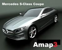 s-class coupe 3d obj