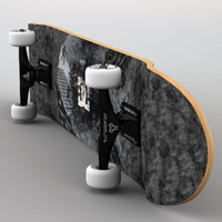 3d dc skateboard model