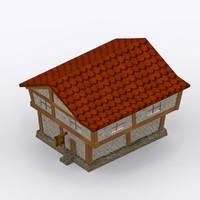 free stone merchant building 3d model